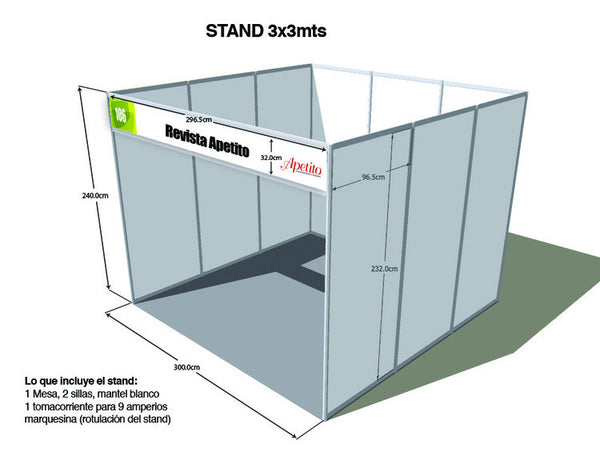 Stand 3x3 Standard Exphore