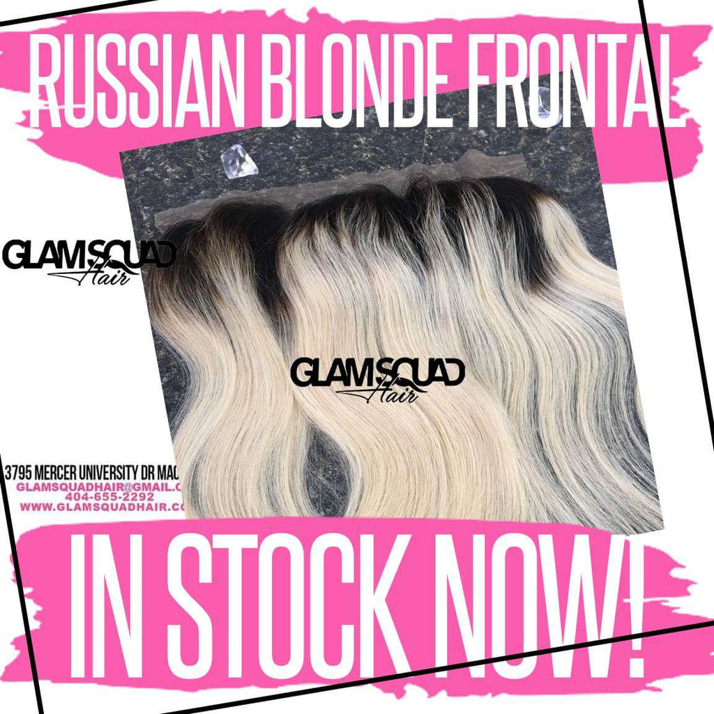 Russian Blonde Frontal Straight - Glam Squad Hair