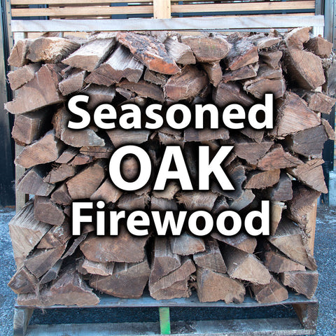 1/2 Seasoned (split 3-4 months) Oak Firewood - 1 Pallet