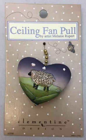 Clementine 179 HEART LAMB Fan Pull