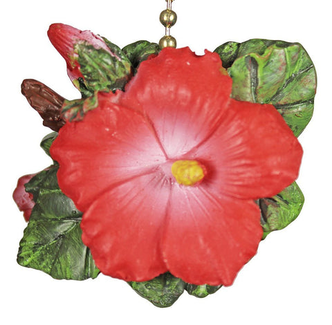 Clementine Design Tropical Hibiscus Fan Pull