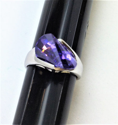 R.S. Covenant 4180 Sterling Silver & Purple Tanzanite Ring Size 7