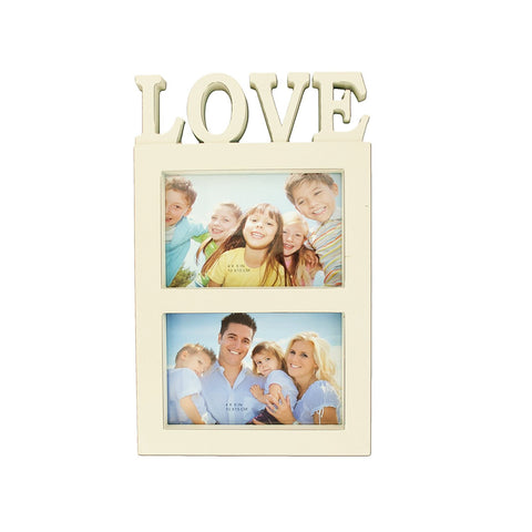 Beige Love Photo Frame