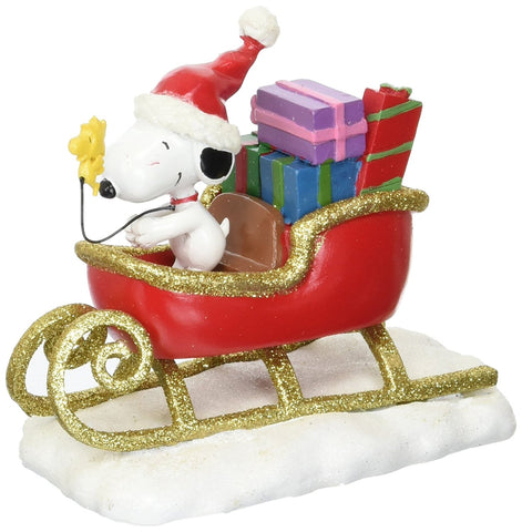 Department 56 4057053 Peanuts Snoopy Sleigh Figurine
