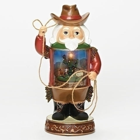 "Roman 130217 MUS 12""LED COWBOY NUTCRACKER W/CHRISTMAS CACTUS IN CENTER"
