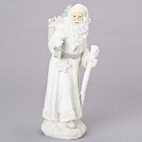 "Roman 130332 15.75"" ICE FATHER CHRISTMAS W/ STAFF"