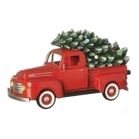"Roman 130508 MUS 10.25"" LED FORD 1948 TRUCK LIGHTED TREE B/O W/O BATT"