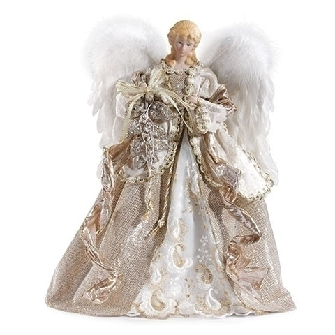 "Roman 130774 16"" ANGEL TREETOP CHAMPAGNE GOWN"