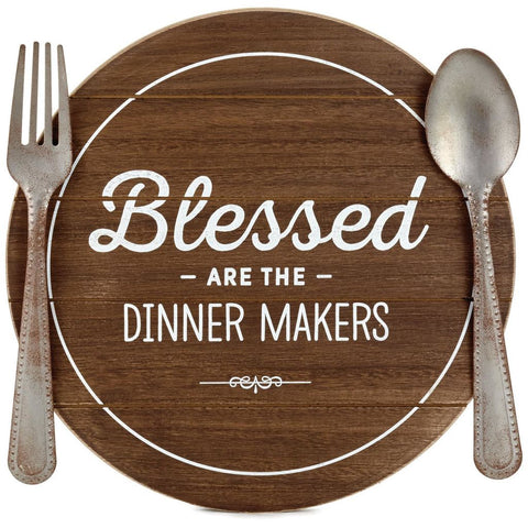 Hallmark Blessed Dinner Makers Rustic Wood Quote Sign
