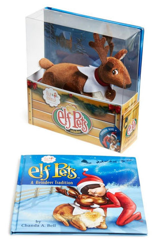 Elf Pets Reindeer Plush And Book Set