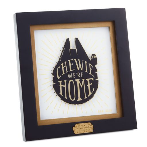 Hallmark 1shp4110 Star Wars Han Solo Framed Quote Sign Robys Hallmark