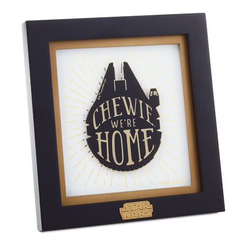 Hallmark 1SHP4110 Star Wars Han Solo Framed Quote Sign