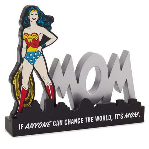 Hallmark WONDER WOMAN Mom Quote Sign Desk Accessory