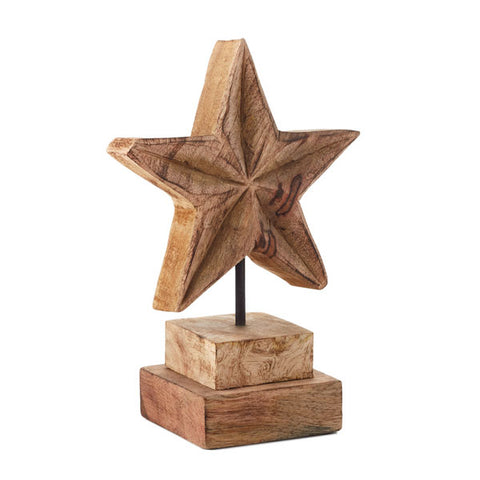 Hallmark Small Carved Mango Wood Star
