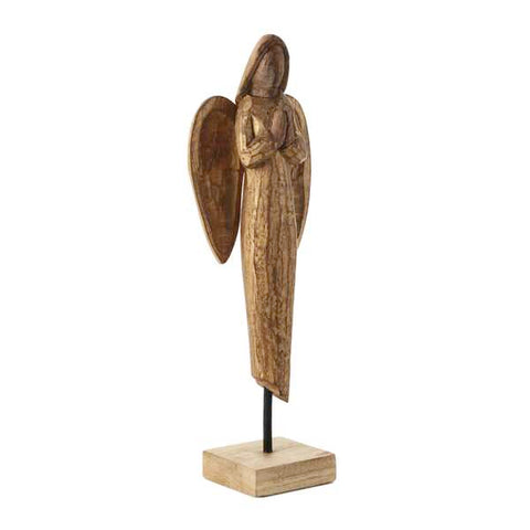 Hallmark Carved Mango Wood Angel with Folded Hands
