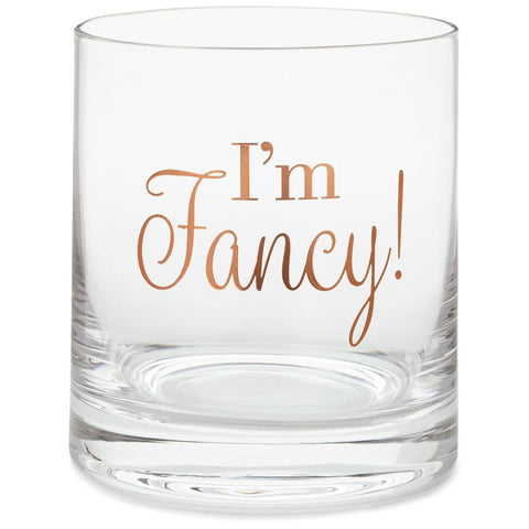 Hallmark I'm Fancy Lowball Glass