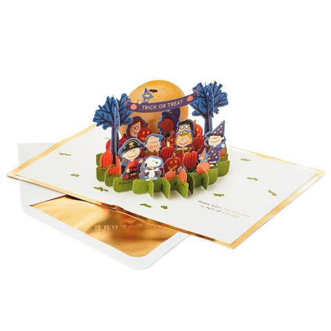 Peanuts® Trick or Treat 3D Pop-Up Halloween Card