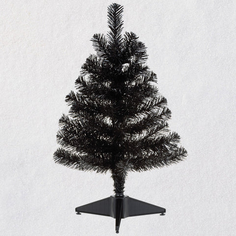 Miniature Keepsake Ornament Black Christmas Tree