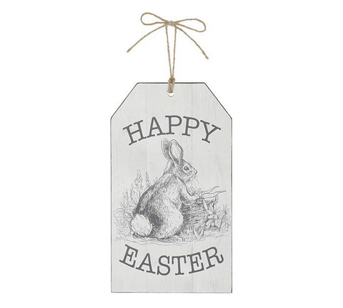 Burton+BURTON Happy Easter Tag Shaped Wall Hanging