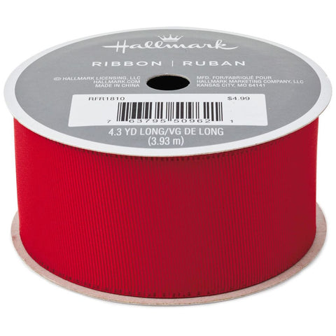 Hallmark Red Grosgrain Ribbon