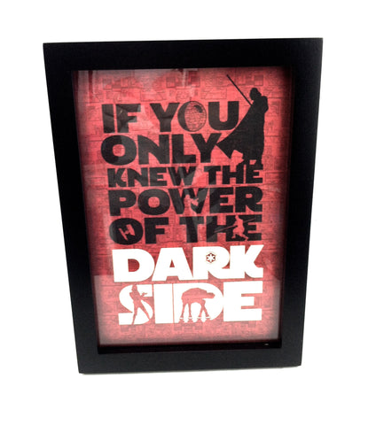 "Hallmark Star Wars ""If You Only Knew The Power...Dark Side"" Frame"