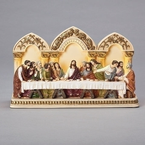 Roman 20338 LED Last Supper Tabletop Decor, 7.5-inch Height