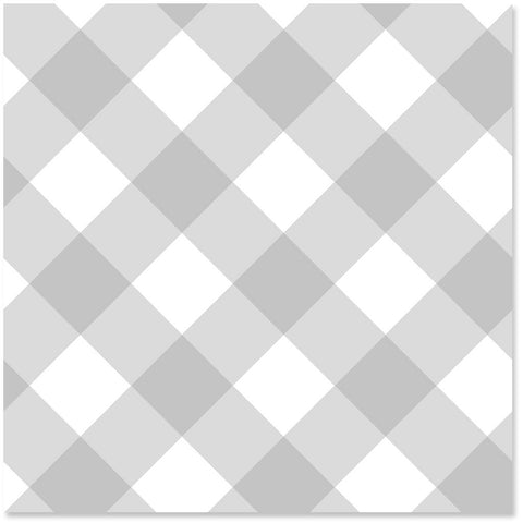 Hallmark Pearl Gray Gingham Wrapping Paper Roll