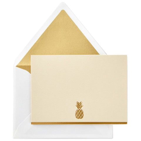 Hallmark Gold Pineapple Blank Note Cards, Box of 10