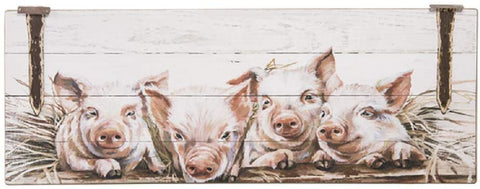 Ganz ER50212 Farmland Painted Pigs Wall Plaque