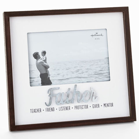 Hallmark Qualities of a Father Wood Picture Frame