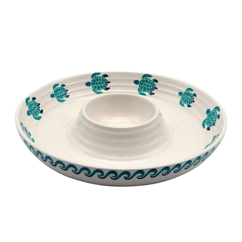 DEI  11662 Sea Turtle Chip & Dip Bowl