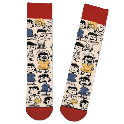 Hallmark 1PAJ2165 Peanuts Lucy Through the Years Socks