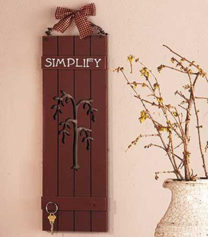 Lakeside 616300026 WOODEN SIMPLIFY PANEL WALL HANGING