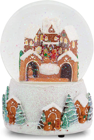Roman 133520 Musical Gingerbread Dome Snowglobe, 5.7 inch, Multicolor