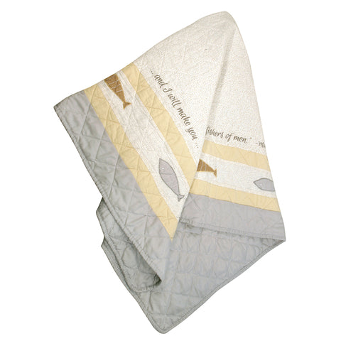 Stephan Baby Reversible Pieced Crib Quilt, Fishers of Men