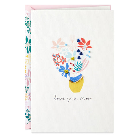 Hallmark Signature Vase of Flowers Mother's Day Card