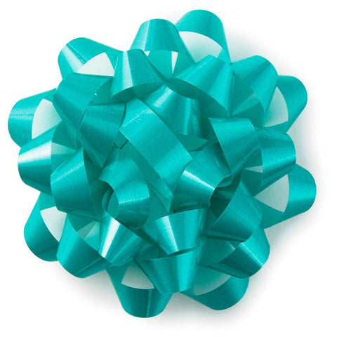 Hallmark Turquoise Blue High Gloss Ribbon Confetti Gift Bow