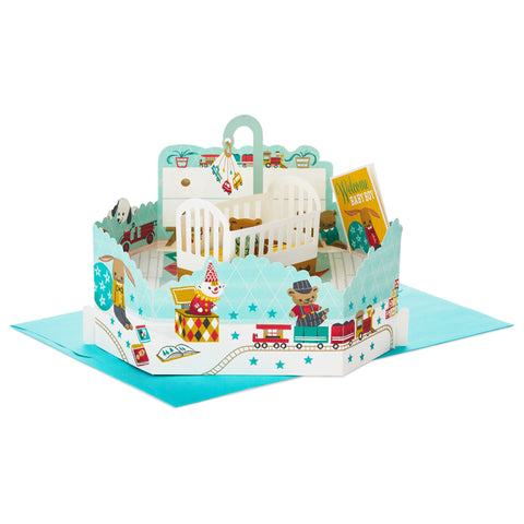 Welcome Baby Boy 3D Pop-Up New Baby Card