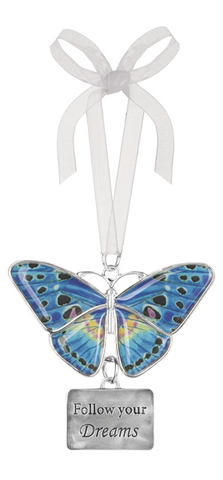 Ganz Home Decor Christmas/Spring Blissful Journey Butterfly Ornament (Follow Your Dreams EA13548)