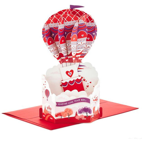 Hallmark Hot Air Balloon Pop Up Valentine's Day Card