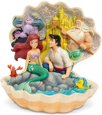 Enesco 6005956 Little Mermaid Shell Scene
