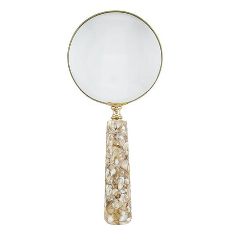 47th & Main Vintage Style Handheld Shell Magnifying Glass, 4 Inch