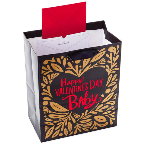 Mahogany Hallmark Ready To Go Large Black and Red Gift Bag