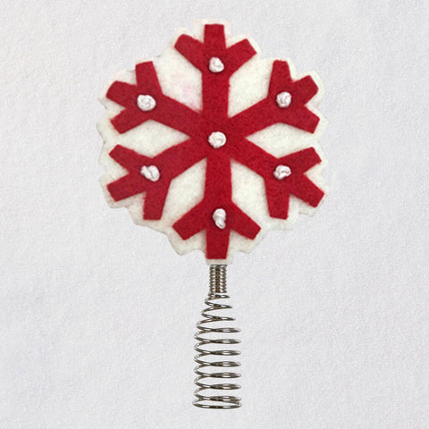 Miniature Snowflake Wool and Metal Tree Topper