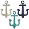 Anchor Wall Hooks Oversized Set of 3 Antique Weathered Hangers for Coats, Aprons , Hats, Towels, Pot