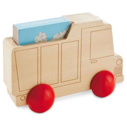 Hallmark Wooden Toy Dump Truck with Book Bby4604