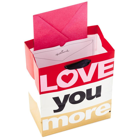 Hallmark Ready To Go Love You More Medium Gift Bag