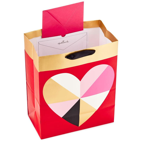 Hallmark Ready To Go Geometric Heart Large Gift Bag
