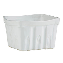 47th & Main MR698 Porcelain Berry Basket, Small, White