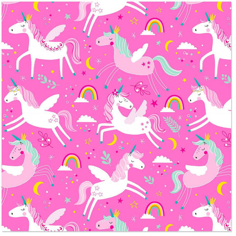 Hallmark Frolicking Unicorns on Pink Wrapping Paper Roll